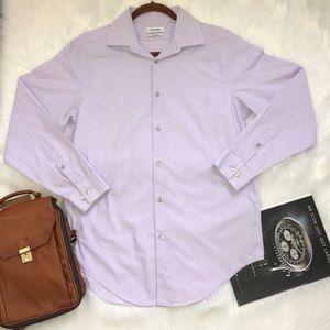 Calvin Klein light purple dress shirt, size:M